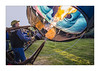 IMG_5464 (Carlos M.C.) Tags: globos aroestaticos leon 2013 feria ballon flamas fuego canastilla mexico festival colores ventilador quemador mimbre amarillo de