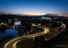 Lucus Ligths (J. Cabana) Tags: lugo río spain españa galicia city ciudad larga exposición night noche river miño