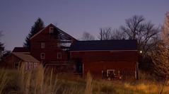 365-102 (• estatik •) Tags: 365102 365 102 april122017 41217 weds wednesday everittstown everitstown nj new jersey barn hunterdon county farm effects photoshop long exposure night dark tractor field