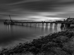 Malibu Pier (Eric Zumstein) Tags: malibupier 10stop pier longexposure seascape ocean clouds sky bnw breakthrough filter landscape