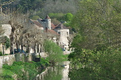 Noyers, Burgundy (surreydock) Tags: picturesque river medieval france burgundy noyers les plus beaux villages de lesplusbeauxvillagesdidfrance village trees verdant spring printemps primavera frühling