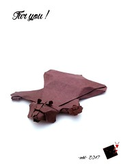 Fur you ! (-sebl-) Tags: origami sebl bear fur antifur art paper