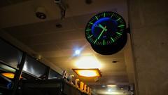 Horloge... Clock... PSP**** (Isa****) Tags: clock horloge gare station perpignan nuit night lumière light