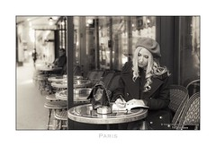 Paris n°147 - Memories Of Literary Paris (Nico Geerlings) Tags: paris parijs france ngimages nicogeerlings nicogeerlingsphotography streetphotography saintgermain saintgermaindespres cafe deflore boulevardsaintgermain writer writing memories classic vintage leicammonochrom 50mm summilux
