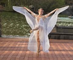 Fly (steveedreff) Tags: ballerina wings outside water dance dancer ballet
