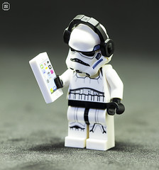 Music Moment (jezbags) Tags: lego legos legostarwars toys toy star starwars wars minifigure minifigures macro macrophotography macrodreams macrolego canon60d canon 60d 100mm closeup upclose stormtrooper stormtroopers troopers trooper phone iphone headphones mobile music audio helmet white black