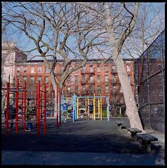 Playground (Chris Protopapas) Tags: park hasselblad zeiss film newyorkcity playground