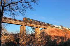 CSX Q675-06 (Steve Hardin) Tags: cartersville ga georgia wa westernatlantic csx norfolksouthern railroad railway railfan manifest freight train etowah river bridge trestle es44ah sd70m2 d944cw cw44ac ge emd