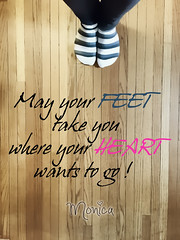 Words to inspire (Monica E Lopez) Tags: quote saying words inspire feet toes floor stripes hardwood toast wish wishes