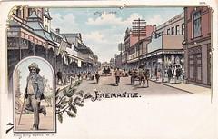 HIGH STREET, FREMANTLE, W.A. - KING BILLY - 1901 (Aussie~mobs) Tags: highstreet fremantle westernaustralia kingbilly indigenous streetscape aborigine leader elder shops stores town arcade 1901 aussiemobs
