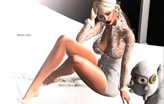 A dreamer (✿ Electraa Allen ✿) Tags: kom klarawaco catwa bento elikatira opulence sl secondlife slfashion virtual dream light sensual girl white maitreya vista lilos fit