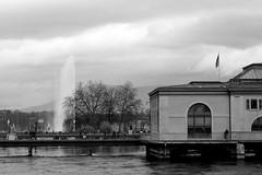 Geneva in grey (overthemoon) Tags: switzerland suisse schweiz svizzera romandie genève genf geneva pontdelamachine rhône waterworks jetdeau lile citédutemps bw