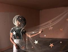 Rising Star (part 3) (Rob Woodcox) Tags: surreal whimsical conceptual robwoodcox robwoodcoxphotography fashion beauty beautiful black brown pink woman power stars universe meaning deep afro portland oregon