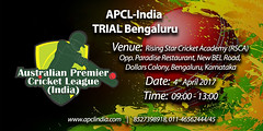 Bangaluru Trial Match 04 April 2017 (apclcricketlegue) Tags: bangaluru trail match apcl registration cup 2017 cricket matches in india indian indiancricketleague indianpremiercricketleague venue bangalore