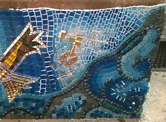 WIP - Woodlands Mosaic 050 (Sensation Art Gallery) Tags: mosaic workinprogress wip grout grouting blue art