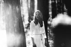 Lisa (David Pinzer) Tags: people portrait girl emotive sensual beauty face monochrome pure natural