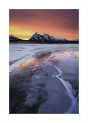 Colours Are Brighter .... When The Mind Is Open .... (Maxwell Campbell) Tags: canada lake abraham sunset ice snow landscape mountains