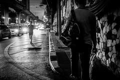 Going Home | Lost in Bangkok | Bangkok 2016 (Johnragai-Moment Catcher) Tags: people photography bangkokstreet nightstreet blackwhite blackandwhite thailand lostinbangkok johnragai johnragaiphotos johnragaistreet johnragaibw olympus omd omdem1