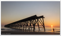 Taking the shot (Lynne J Photography) Tags: pier sunrise pastel long exposure beach rapeseed dusk sunset chemicalbeach seaham wheels sand steetley dawn colors rocks sidelight