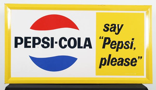 Pepsi Please 5 ½'x 3' Metal Sign ($336.00)