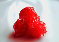 Glazed cherries (Isabelle T) Tags: glaze macromondays red fruits hmm rouge cherry nikon macro