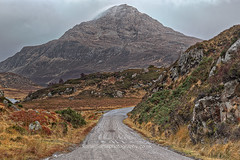 Ben Stack (2) (Shuggie!!) Tags: eveninglight gorse hdr highlands hills landscape moorland mountains roads rocks scotland sutherland zenfolio karl williams karlwilliams