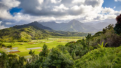Hanalei Valley Overlook (lsten) Tags: jungle kauai natureview travelphotography nature water bracketing hills hawaii bracketed princeville hdr summer hanaleivalleyoverlook amateurphotography landscapephotography pacific valley view wideangle usa landscape handheld noon overcast canoneos6d 25mm peaceful naturephotography colorful mountain f11 viewingpoint scenery beautiful mountains trees canonef1635mmf4lisusm daylight clouds green tree iso800 field