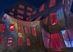architecture gone mad (marion faria) Tags: frankgehry architecture clevelandclinic lasvegas nevada night lights color