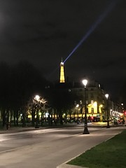 Paris  France  ~  The Eiffel Tower at Night  ~  Light Beam