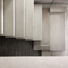 carlo scarpa, architect: olivetti showroom stairs, venice 1957-58