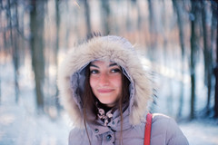 Nataliya (Robert Ugroci) Tags: olympus om2 om gzuiko 50mm f14 kodak ektar100 35mm analog winter2016 snow trees bokeh forest kvašna voda cest magnifique beautiful woman красива жінка ukraine deer smileface фотопленка пленка beyondbokeh