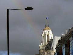 Former Debenhams, Wigmore St, London W1 (mira66) Tags: gwuk debenhams wigmorest cupola flag rainbow london faience