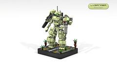 Lysander Scout Engine (CK-MCMLXXXI) Tags: lego moc mech engine ldd digital render lysander battle scout