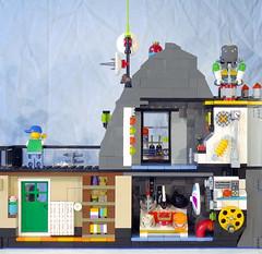 Magic Mountain Time Lab remake (lingonkart) Tags: lego moc timecruisers magicmountaintimelab timetravel laboratory base volcano remake timmy