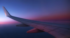 Heading Towards the Blue Hour (whidom88) Tags: ryanair blue hour evening light flight