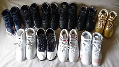 Reebok Freestyle Collection (perry515) Tags: reebok freestyle free style hi high top rbk fs classic black white red gold brass graphics alicia keys ak wedge sequence eden road trip fur 25th anniversary polka dot easytone spirit face stockholm aerobic shoe boot 1980s