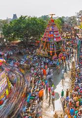 Flow of Devotees (Padmanabhan Rangarajan) Tags: mylapore kapaleeswarantemple carfestival chariot devotees