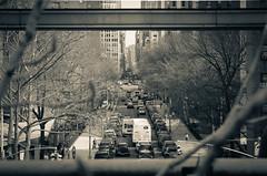 IMG_1165 (kz1000ps) Tags: newyorkcity nyc manhattan architecture urbanism cityscape splittone chelsea highline park elevated railroad traffic 26thstreet