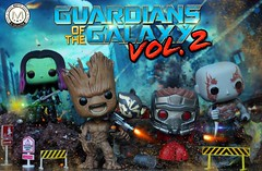 """I am going to die surrounded by the biggest idiots in the galaxy...."" (PrinceMatiyo) Tags: toyphotography popvinyl funko rocketracoon starlord groot drax gamora guardiansofthegalaxy"