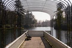 View from the bathhouse (Theo Bauhuis) Tags: gelderland park garden het loo rozenboog steiger scaffold water