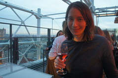 wine over the rooftops (kendradrischler) Tags: me wine rooftop chezgeorges paris centrepompidou rosé redlight thelife sweatshirt