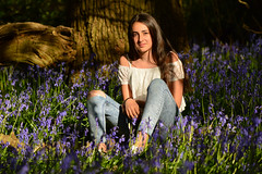 Teenage Dream (Emma Afolabi) Tags: bluebells woodland woods outdoor outdoors outside tree trees flowers spring april portrait teenager girl teenage beautiful nikon