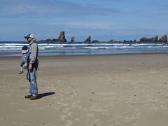 sea stack stretch (carolyn_in_oregon) Tags: crescentbeach ecolastatepark oregon pacificocean cannonbeach allie jacob al
