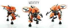 WIFFY-2k17 ((FLAVIO)) Tags: wiffy 2k17 robot drone mecha lego flavio moc walkingmech