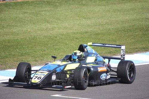 Linus Lundqvist in British F4 Race One during the BTCC Weekend at Donington Park 2017: Saturday, 15th April