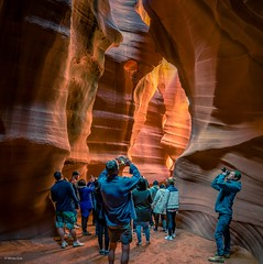 Tourists taking pictures of Antelope Canyon-Arizona