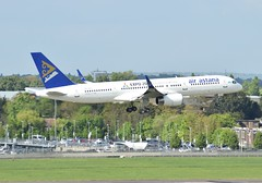 P4-FAS B757 Air Astana at Heathrow 22-04-17 (Pete Altoft) Tags: airlines aircraft airport air astana boeing b757 landing london heathrowairport planespotting uk 2017