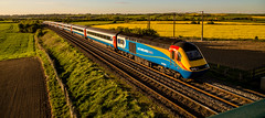 Coming..... (Peter Leigh50) Tags: east midland trains high speed train hst great bowden langtons langton thorpe field farmland sky evening sunshine outside landscape footpath railway railroad uk leicestershire rural market harborough