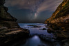 Warriewood Blow Hole Under Diffused Starlight (Orange Orb Photography) Tags: night warriewood blowhole ocean galaxy northernbeaches headland starscape rock sars seascape sydney longexposure cliff milkyway newsouthwales australia au