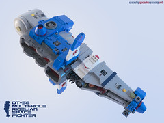DT-58 Rigellian Multi-Role Space Fighter (threeDadventures) Tags: lego spaceship asymettric